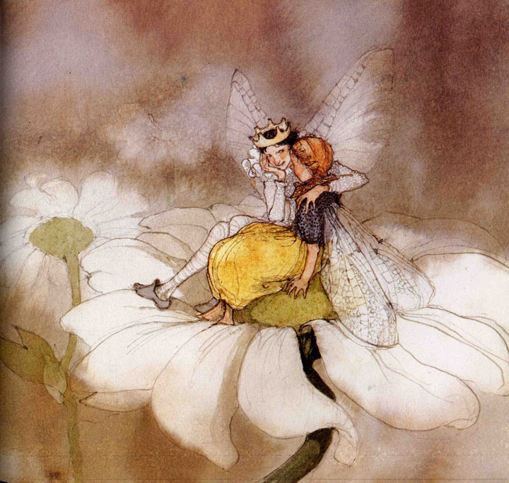 Thumbelina and her fairy prince by Lisbeth Swerger