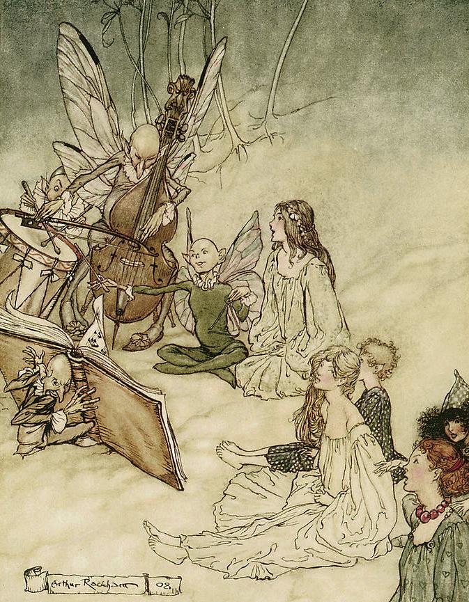 And a Fairy Song by Arthur Rackham