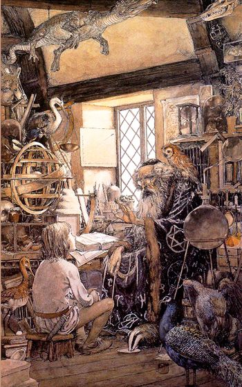 Young Arthur & Merlin by Alan Lee