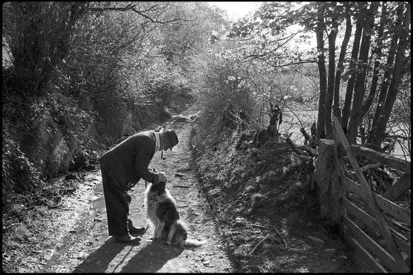 Archie Parkhouse & his dog Sally by James Ravilious