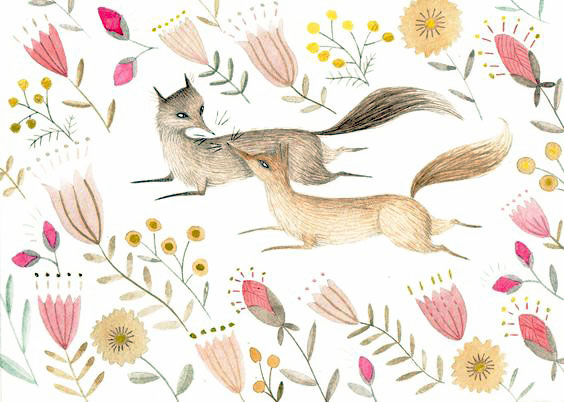 Foxes by Julianna Swaney