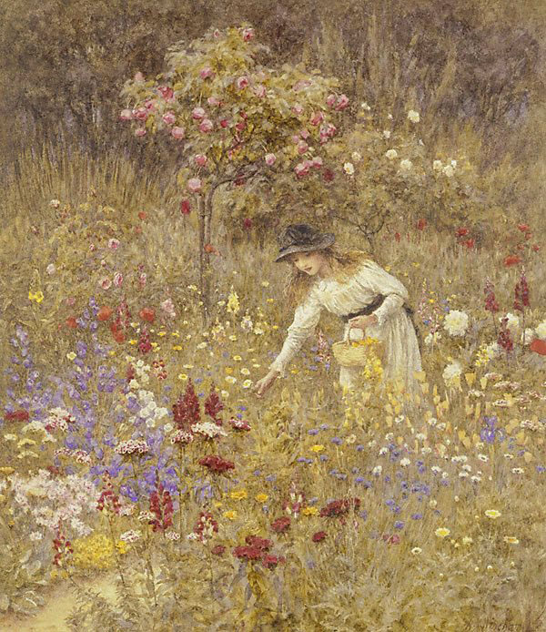 Gathering Flowers by Helen Allingham