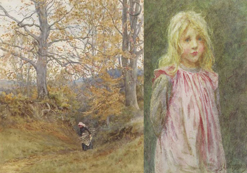 Wood Gatherer and Polly by Helen Allingham
