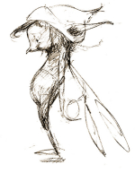 Faery drawing by Brian Froud