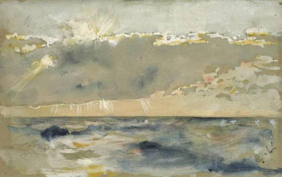 Cloud Bank Over Choppy Sea by Carl Larsson