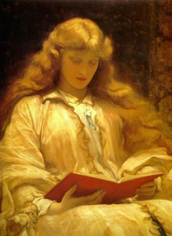 Reading by Frederick Leighton