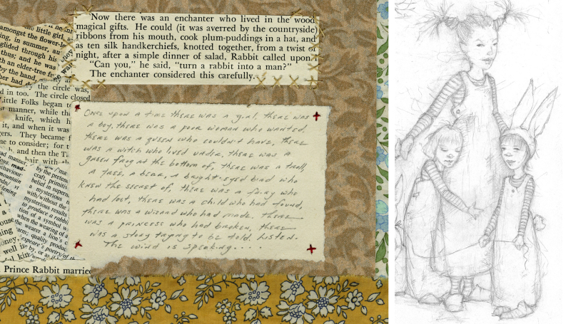 Collage & drawing details