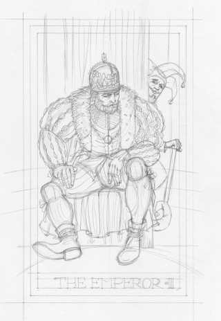 Draft sketch for The Emperor