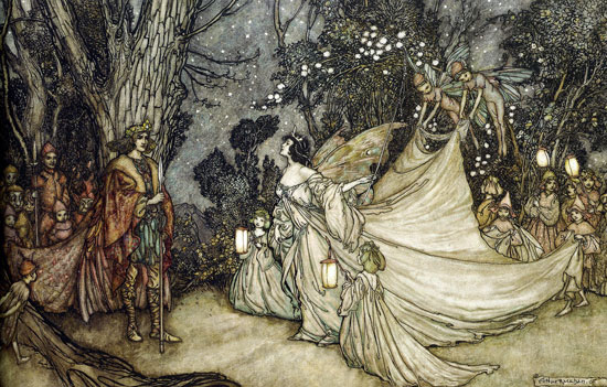 Titania Meets Over Arthur Rackham