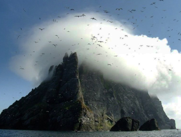 Gannets over St Kilda by Jill Harden (BBC)