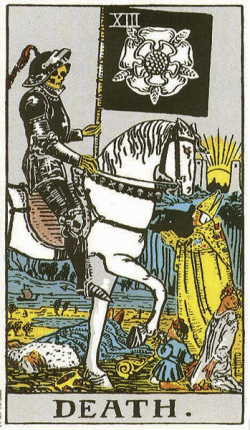Death in the Rider Waite tarot deck