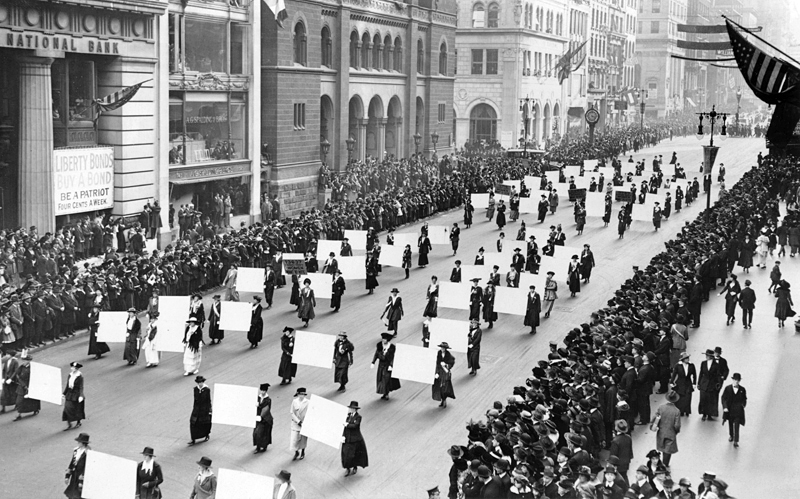 Suffragists in New York City, 1917