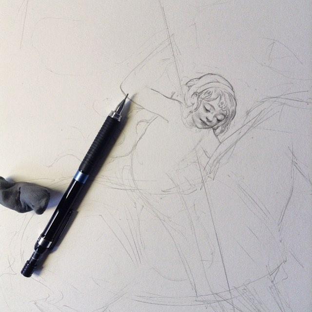 Preliminary sketch by Kristin Kwan