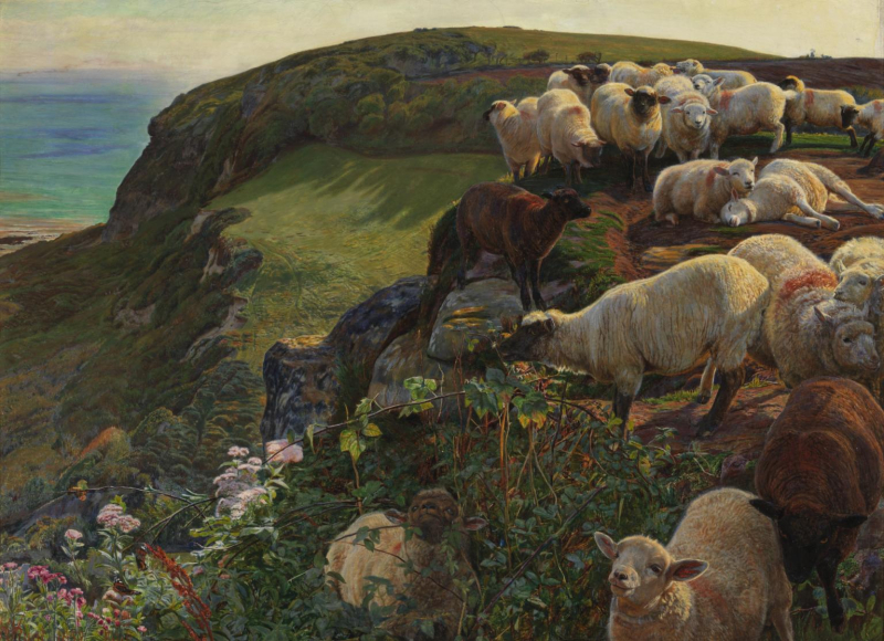 Strayed Sheep by Pre-Raphaelite painter William Homan Hunt