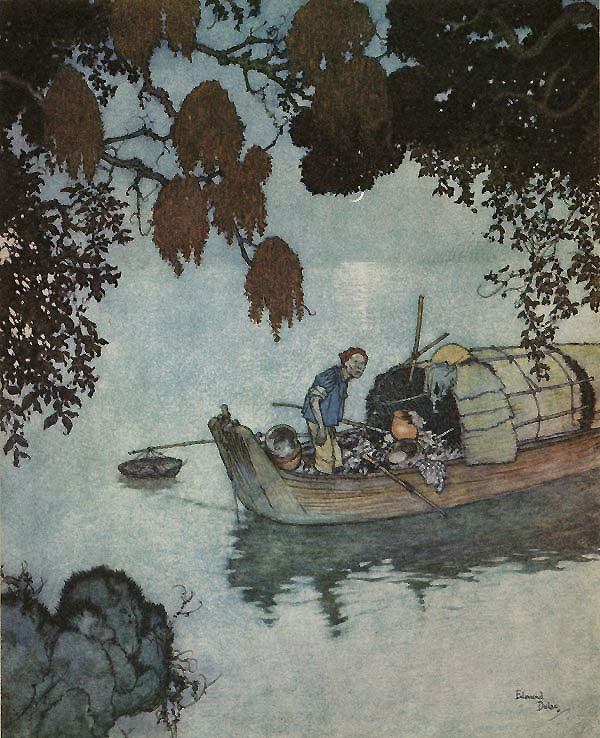 The Fisherman Stops to Listen (from ''The Nightingale'') by Edmund Dulac.jpg