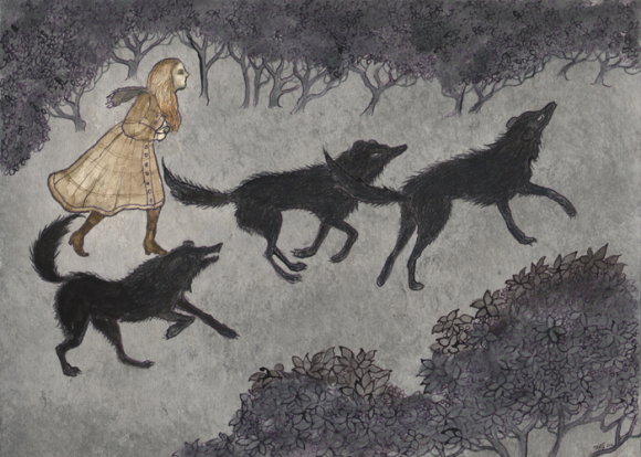 Three Black Dogs by Kelly Louise Judd
