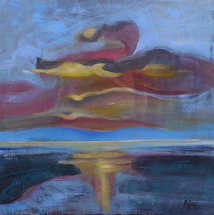 Abstract Sunset 29 by Martina Glastonbury