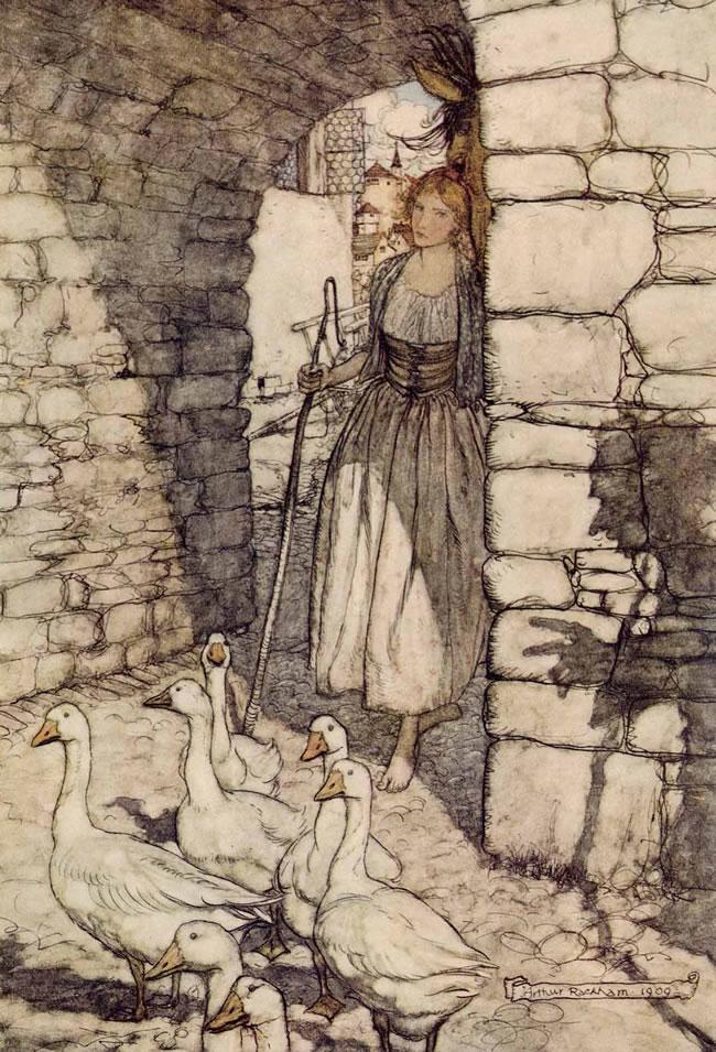 The Goose Girl by Arthur Rackham