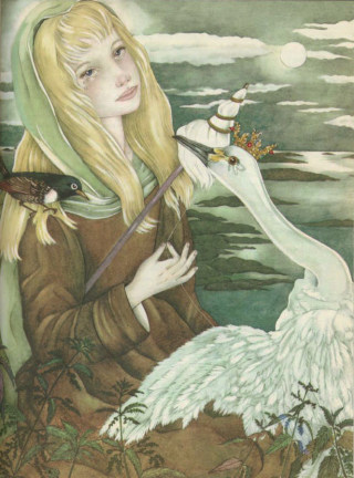 Weaving Thread from Nettles (The Wild Swans) by Adrienne Segur