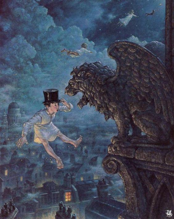Flying Above London by Scott Gustafson