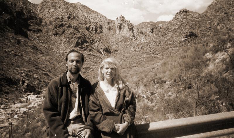 Charles and me, Arizona, early 1990s