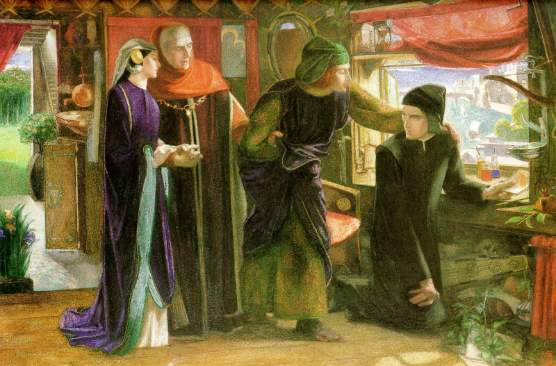 The First Anniversary of the Death of Beatrice by Dante Gabriel Rossetti