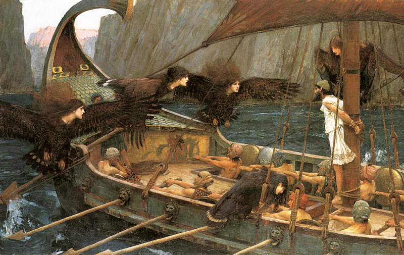 Detail from Ulysses and the Sirens by John William Waterhouse