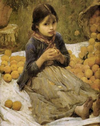 Orange Gatherers by John William Waterhouse