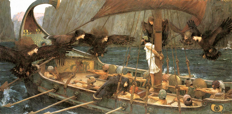 Ulysses and the Sirens by John William Waterhouse