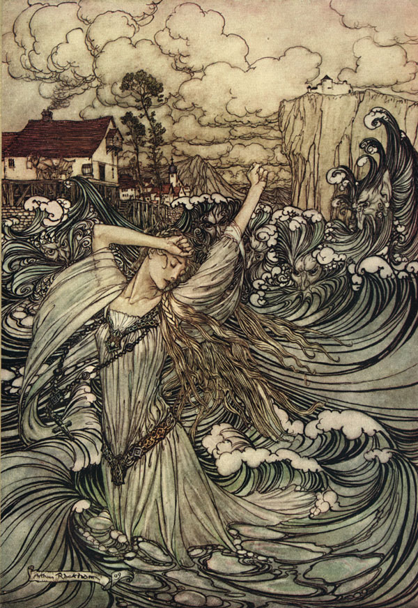 undine arthur rackham illustration lost magic