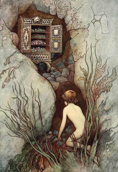 William Heath Robinson's illustration for Kingley's The Water Babies