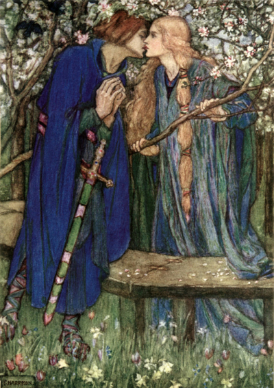 An illustration for William Morris' The Defence of Guenevere by Florence Susan Harrison