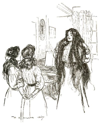 An illustration for E Nesbit's The Enchanted Castle by HR Millar