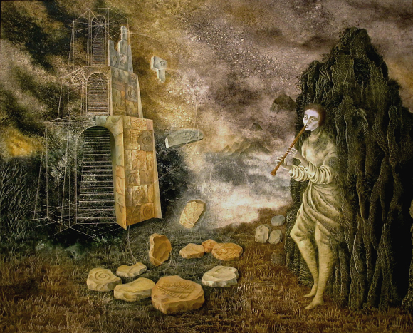 The Flautist by Remedios Varo
