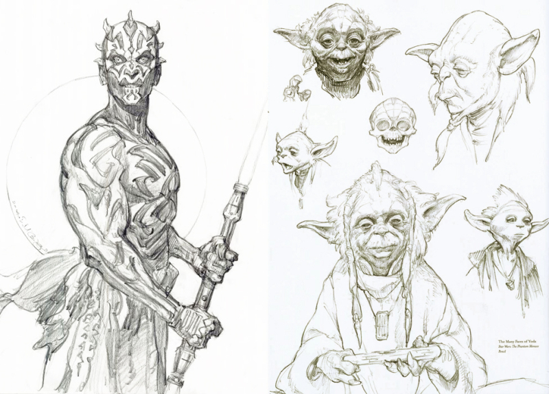 Star Wars character sketches by Iain McCaig