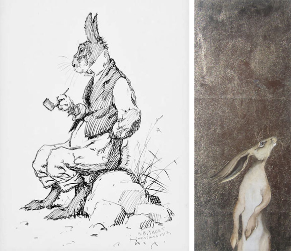 Br'er Rabbit by AB Frost and Hare by Jackie Morris