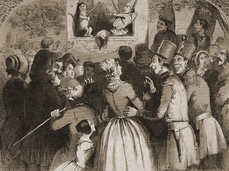 Punch & Judy by George Cruikshank (1792-1978)