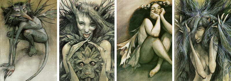 Faeries  good and bad  by Brian Froud