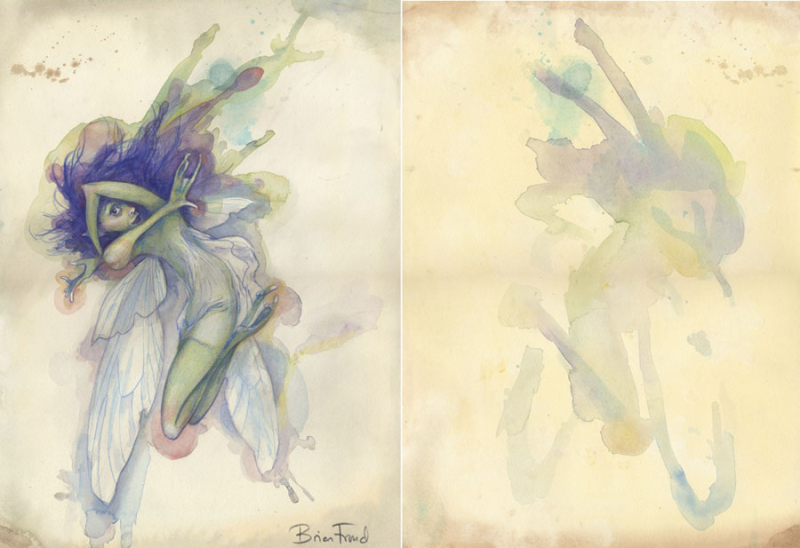 A ''pressed fairy'' by Brian Froud