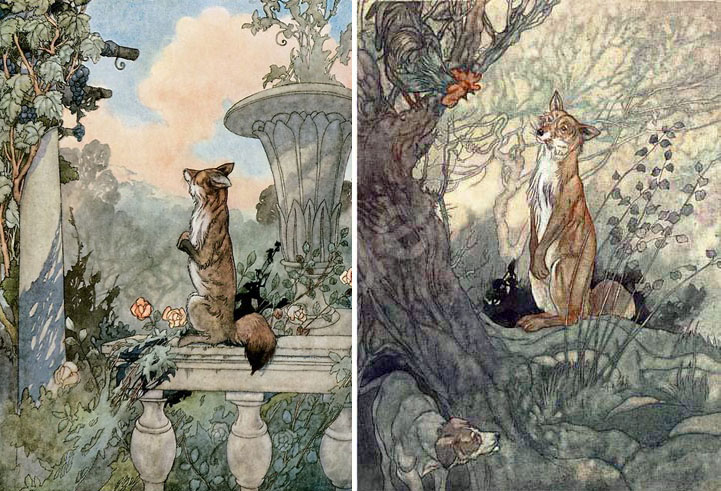 Aesops illustrations by Charles Robinson