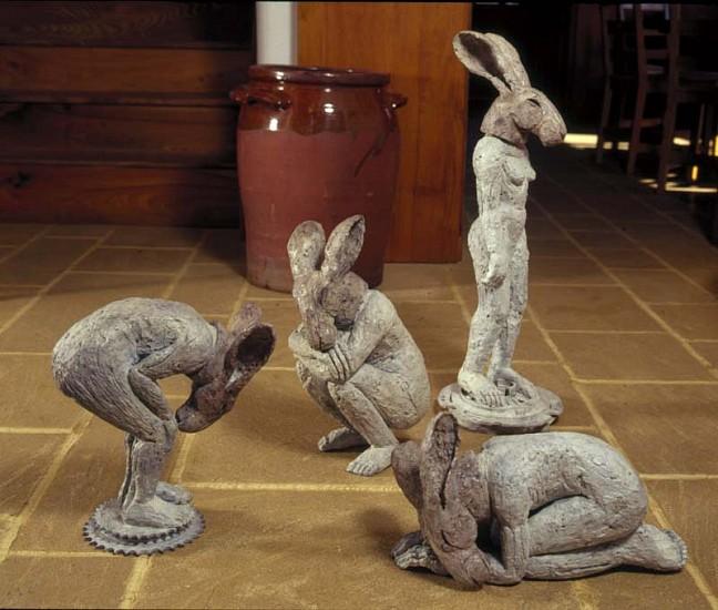 Bending, Crouching, Kneeling, Standing Figures by Sophie Ryder