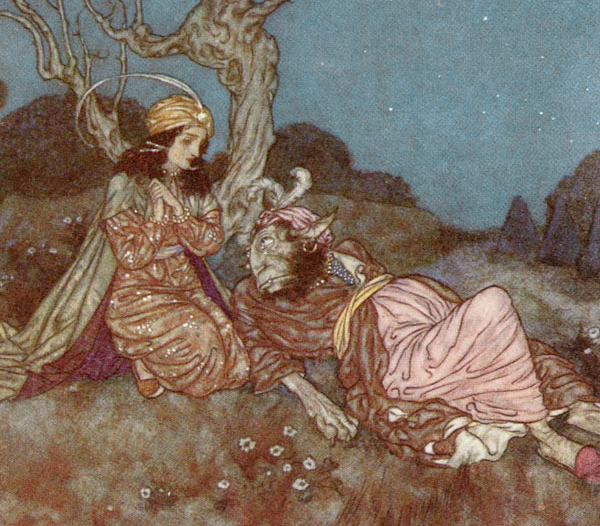 Beauty & the Beast by Edmund Dulac