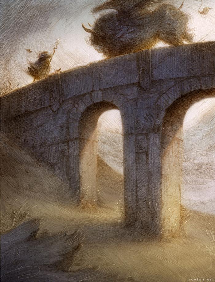 Bridge Encounter by Rovina Cai