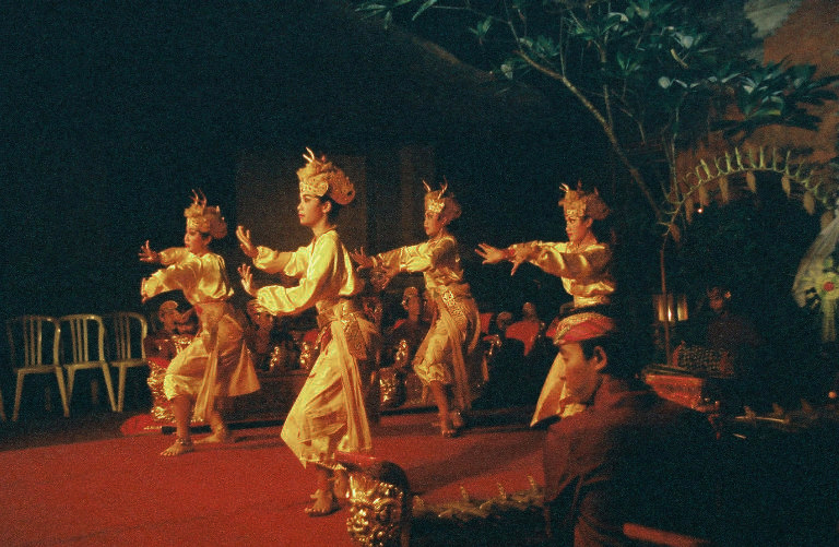 Women's deer dance in Bali