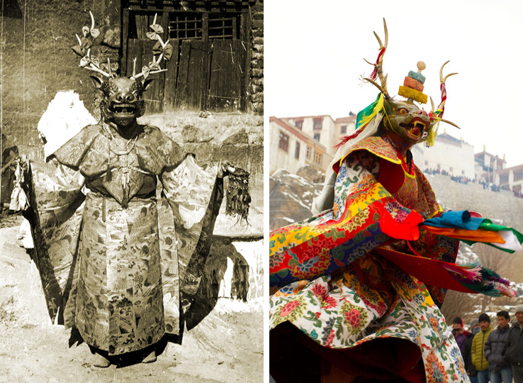 Tibetan Cham Deer  in the early 20th & 2st centuries