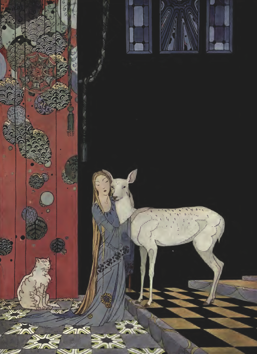 From Old French Fairy Tales illustrated by Virginia Frances Sterrett