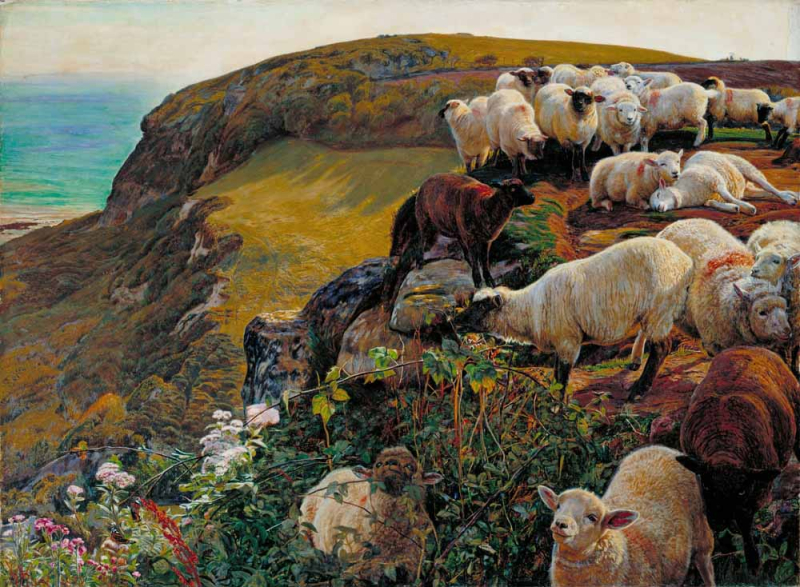 Strayed Sheep by William Homan Hunt