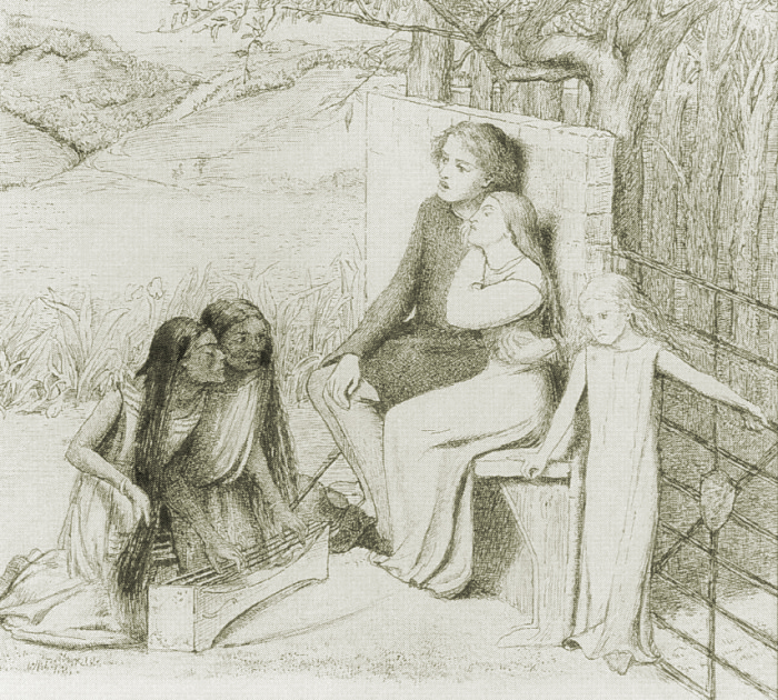 Lovers Listening to Music by Elizabeth Siddal