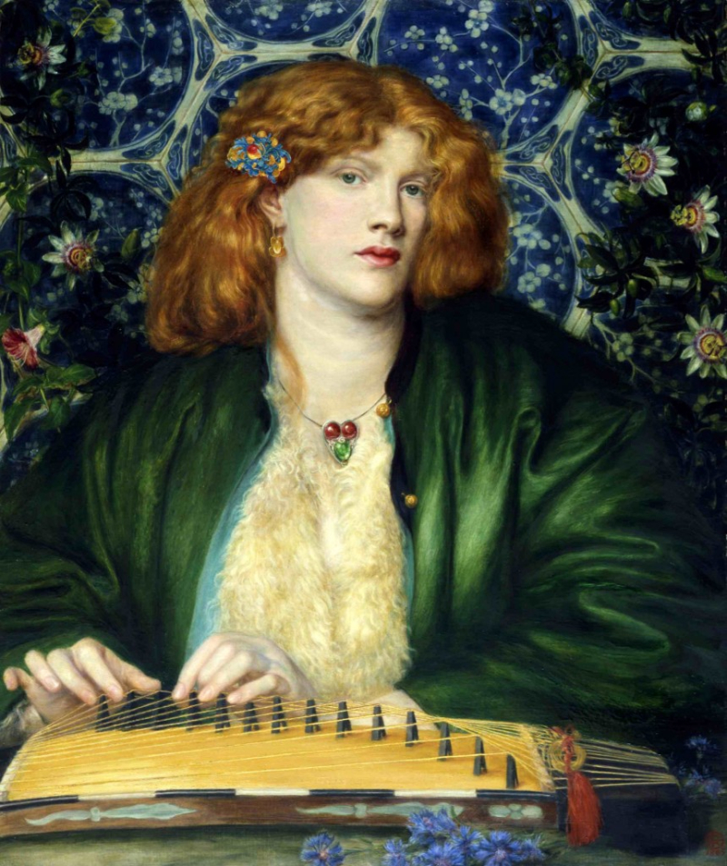 The Blue Bower by Dante Gabriel Rosetti