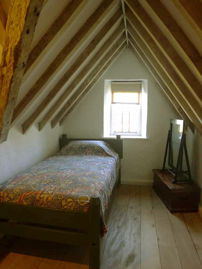 May Morris' childhood bedroom at Kelmscott